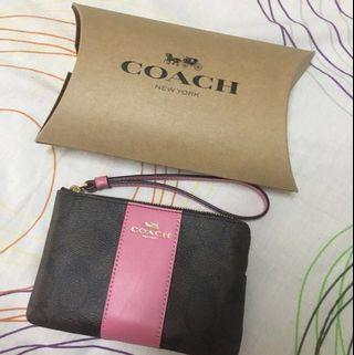 Coach Wristlet in Colorblock Signature Canvas