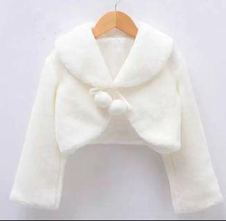 [BNWT] Girl Bridal Outerwear/ Girl Furry Jacket