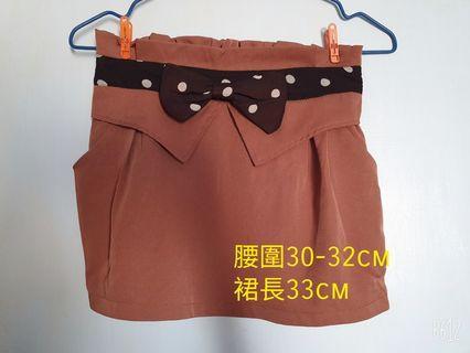 短裙 蝴蝶結 窄裙 有兩個小口袋