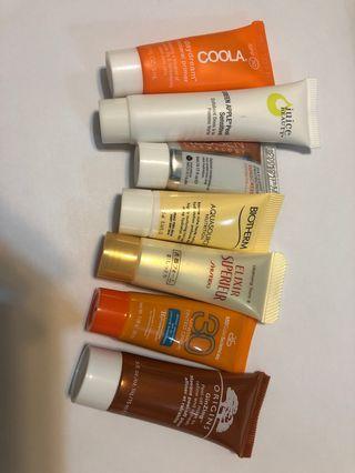 Travel size skincare samples x 13 pcs