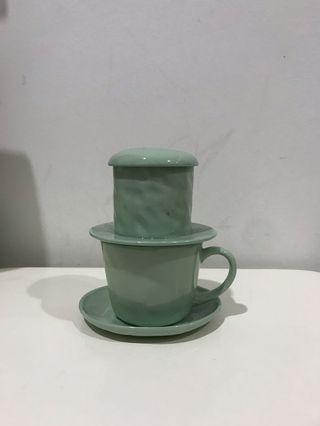 Pastel color ceramic coffee drip