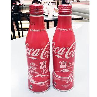 日本可口可樂富士山城市鋁樽一套兩枝