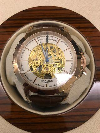 🚚 Manlike一字機芯機械錶