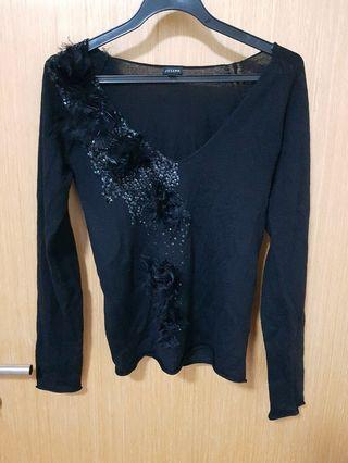 Joseph black v neck top