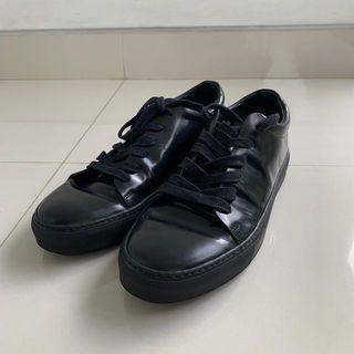 Adrian lether sneakers full black by acne studios