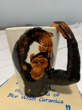 英國Bluewitch handmade ceramics 人手做動物陶瓷杯