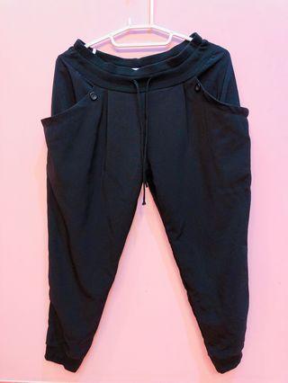 🚚 縮口褲-黑