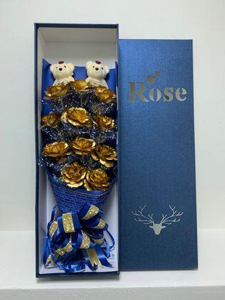 🚚 Real 24K carats gold rose
