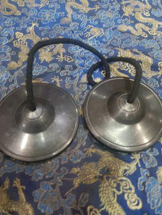 Tibetan Tingsya made by  brass quality of  singing bowls nice sound
