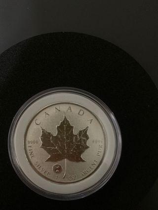 2016楓葉金幣太極版
