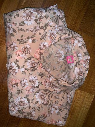 pastel pink blouse