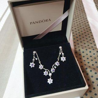 Classic PANDORA Necklace With Earrings