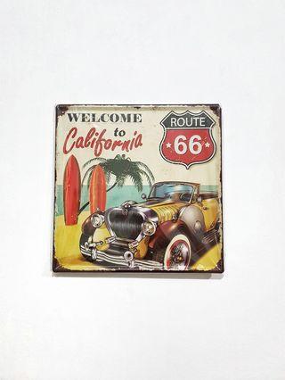Pajangan Dinding Mobil Vintage Tin Plate