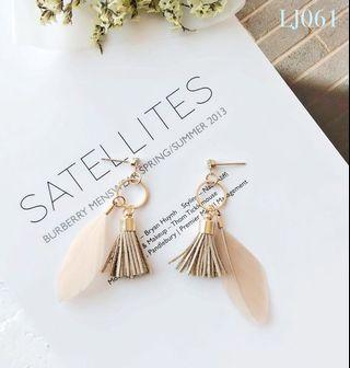🚚 [3 for $15] Korean Design Feather Earrings