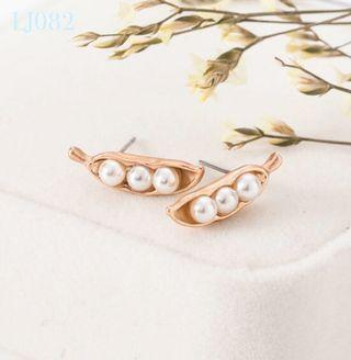 🚚 [3 for $15] Korean Pea Design Pearl Earrings