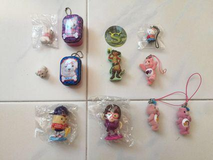 Keychains and Figurines - S$2 - S$5 Each