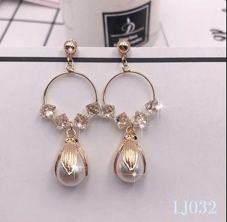 🚚 [3 for $15] Korean Water Drop Pearl Earrings