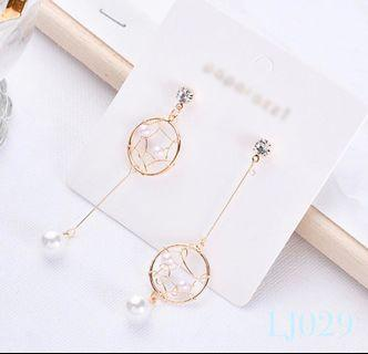 🚚 [3 for $15] Korean Gold Mesh Pearl Earrings