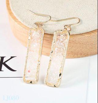 🚚 [3 for $15] Korean Gold Flake Rectangle Earrings