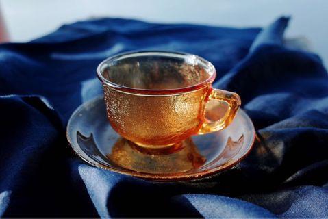 日本帶回 昭和 vintage中古琥珀茶杯套