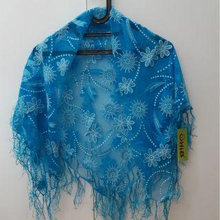 NEW : blue scarf