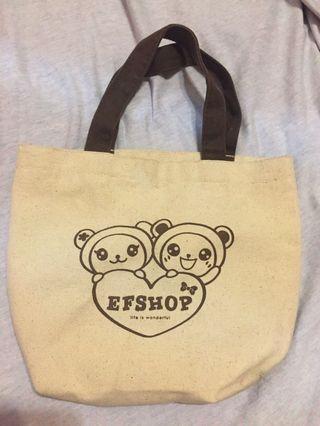 EFSHOP可愛小熊麻布袋