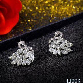 🚚 [3 for $15] Korean Swan Crystal Earrings