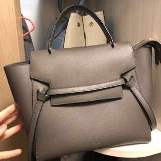 Celine belt bag (micro) dark grey 100%real 90%new