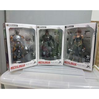 (RARE) 25th Ann Play Arts Kai Metal Gear Solid - Set of 3