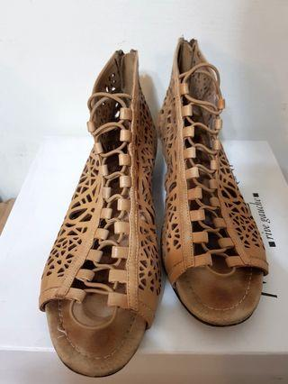 大尺碼 真皮 歐美款 涼鞋 sam & sophie 40 41