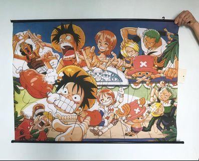 海賊王 One Piece 布類掛畫 家居佈置 裝飾 可捲起 含掛勾位