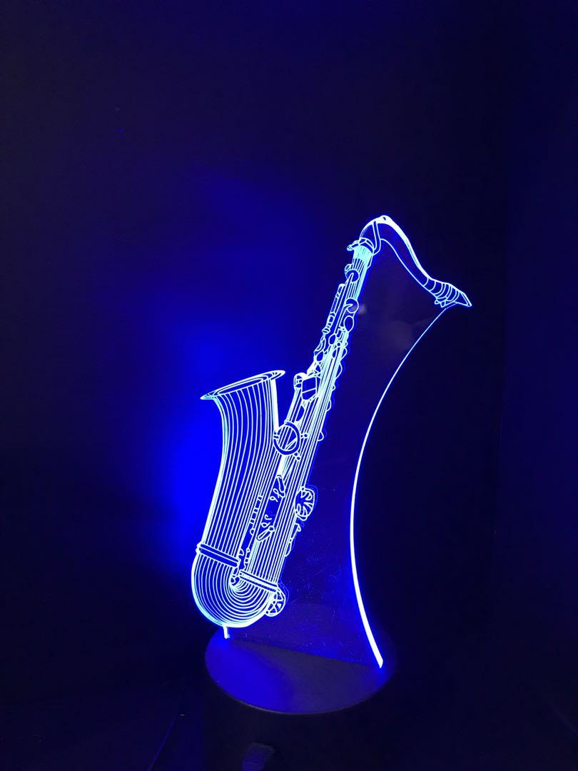 3D night light / saxophone