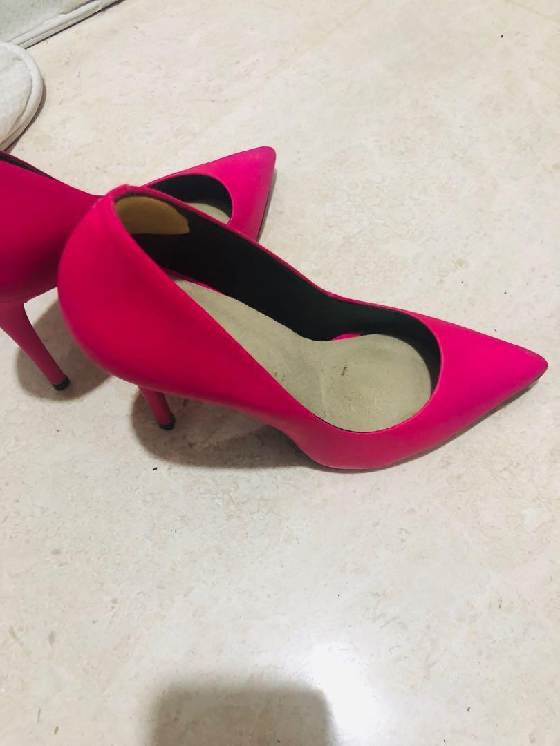 Aldo hot pink high heels pumps, Women's