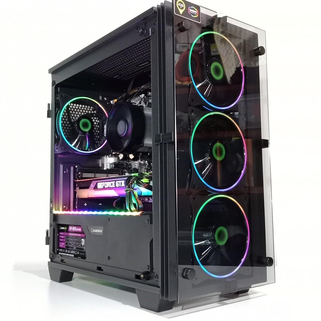 AMD RYZEN 5 2600 GTX 1060 GAMING PC, Electronics, Computers