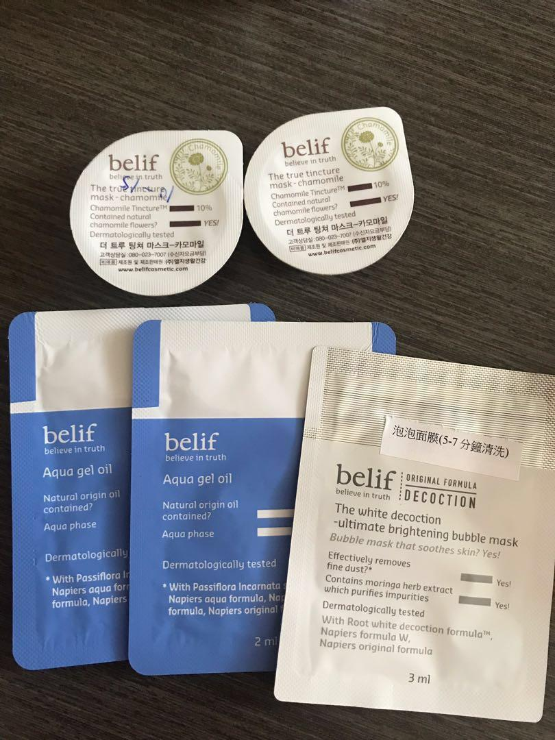 Belif 旅行裝+Sample (全新$50一set未用過)