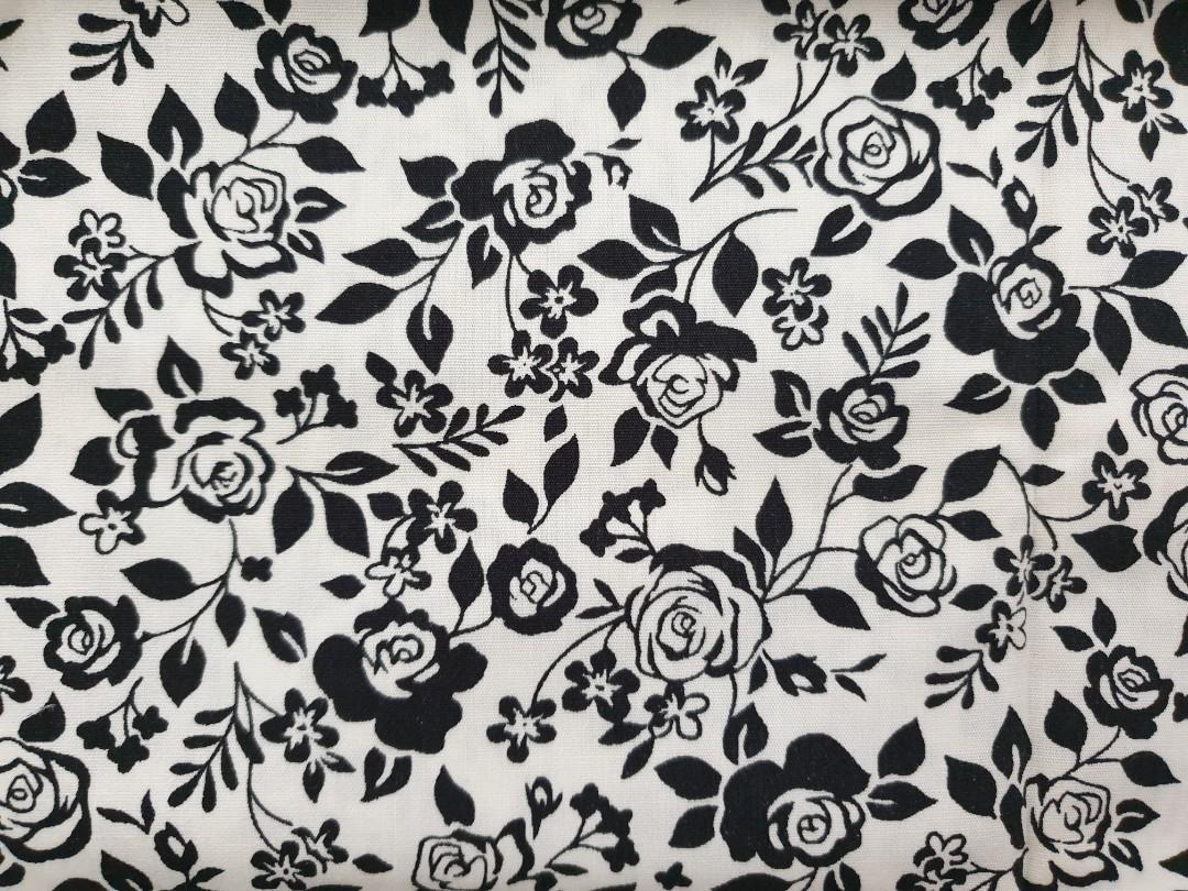 Black Roses fabric (45x55cm) DESTASH