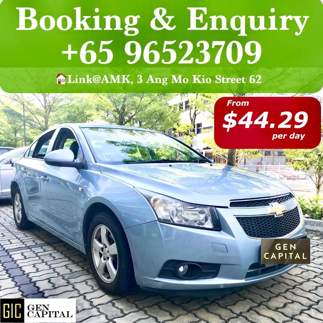 Chevrolet CRUZE 1.6A Full size sedan Spacious Grab Gojek Ryde Tada & Non PHV Car Rental Services in Singapore!