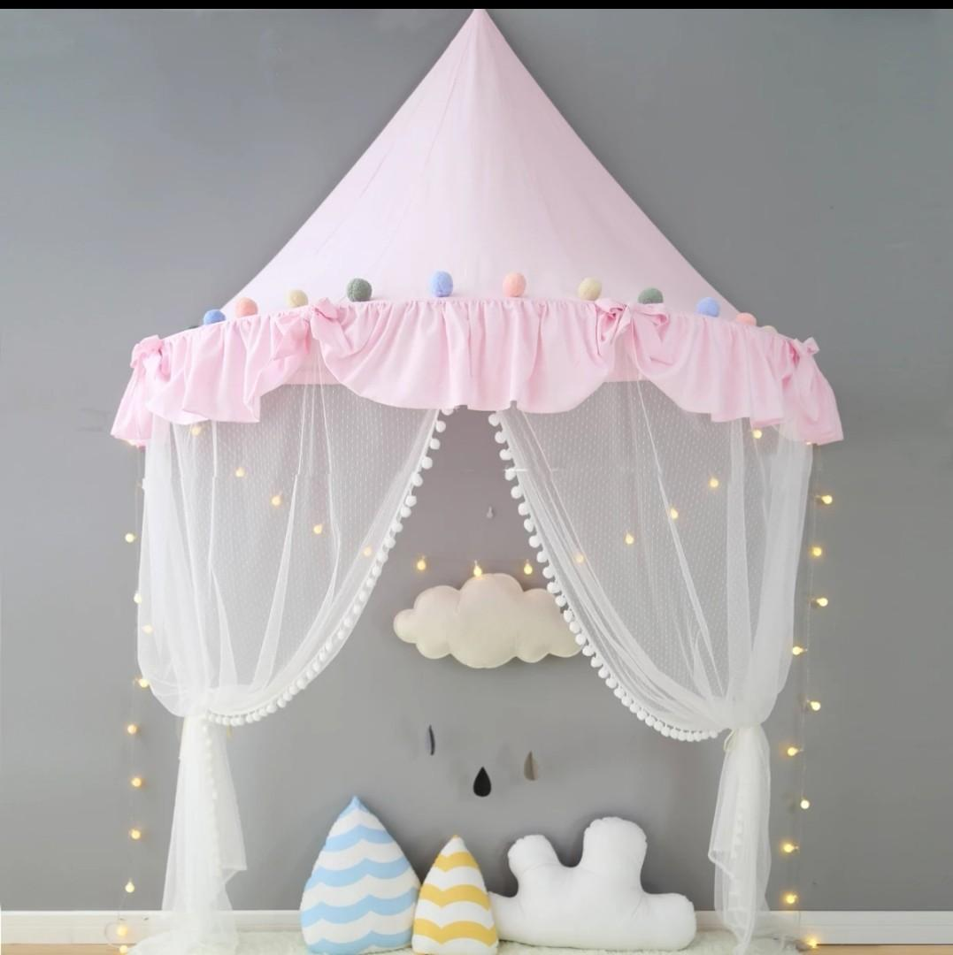 Children's tent play house toy house cotton bed awning wall