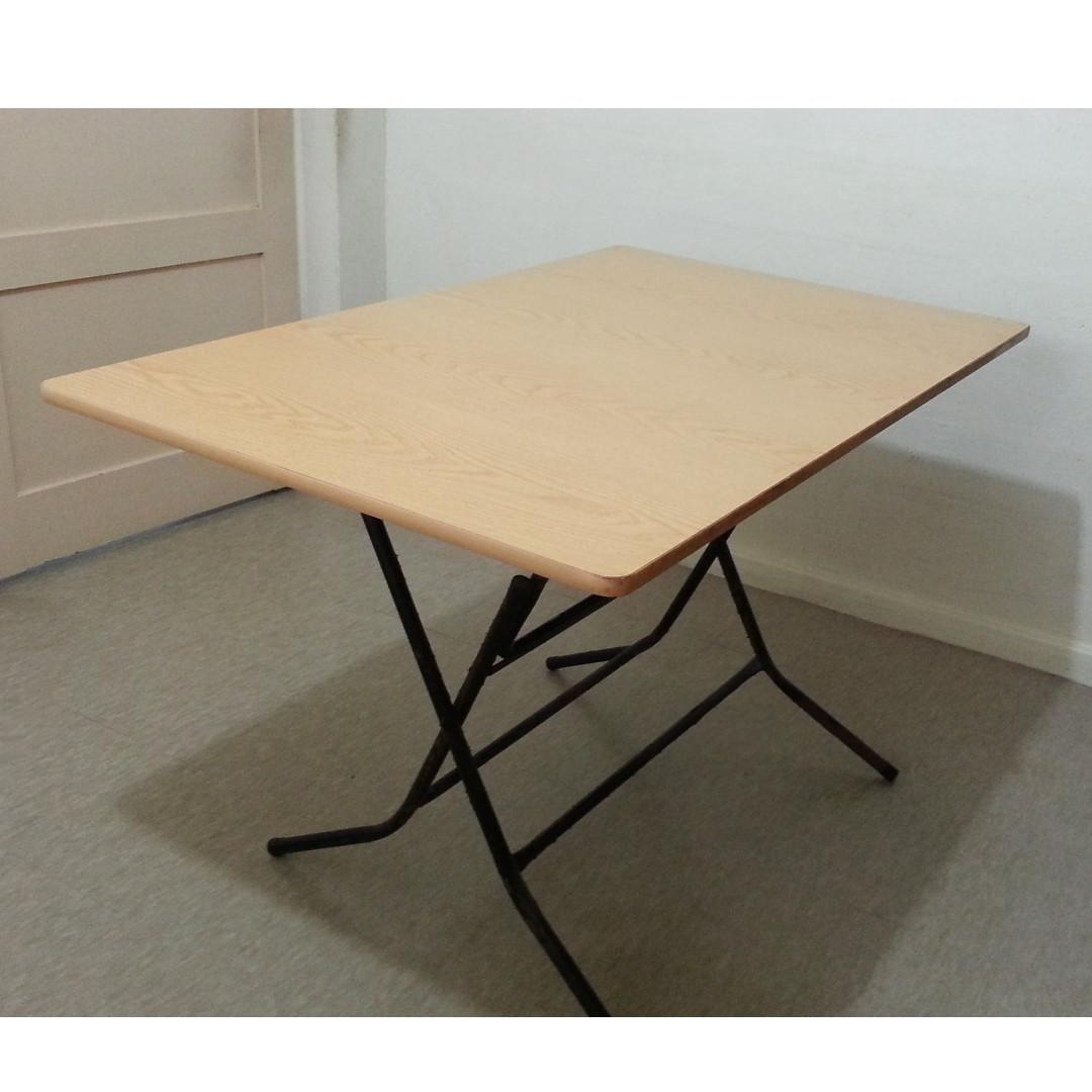 Big Wooden Folding Table Furniture Tables Chairs On Carousell
