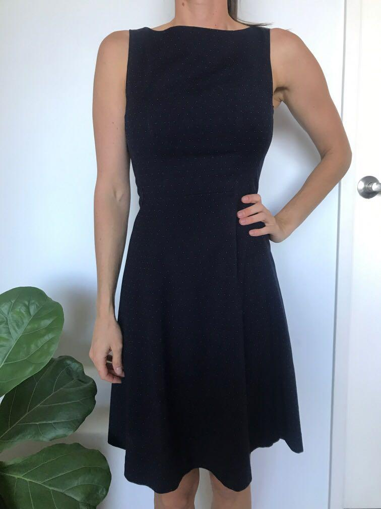 H&M Navy Blue Dress with White speckles Size Euro 36