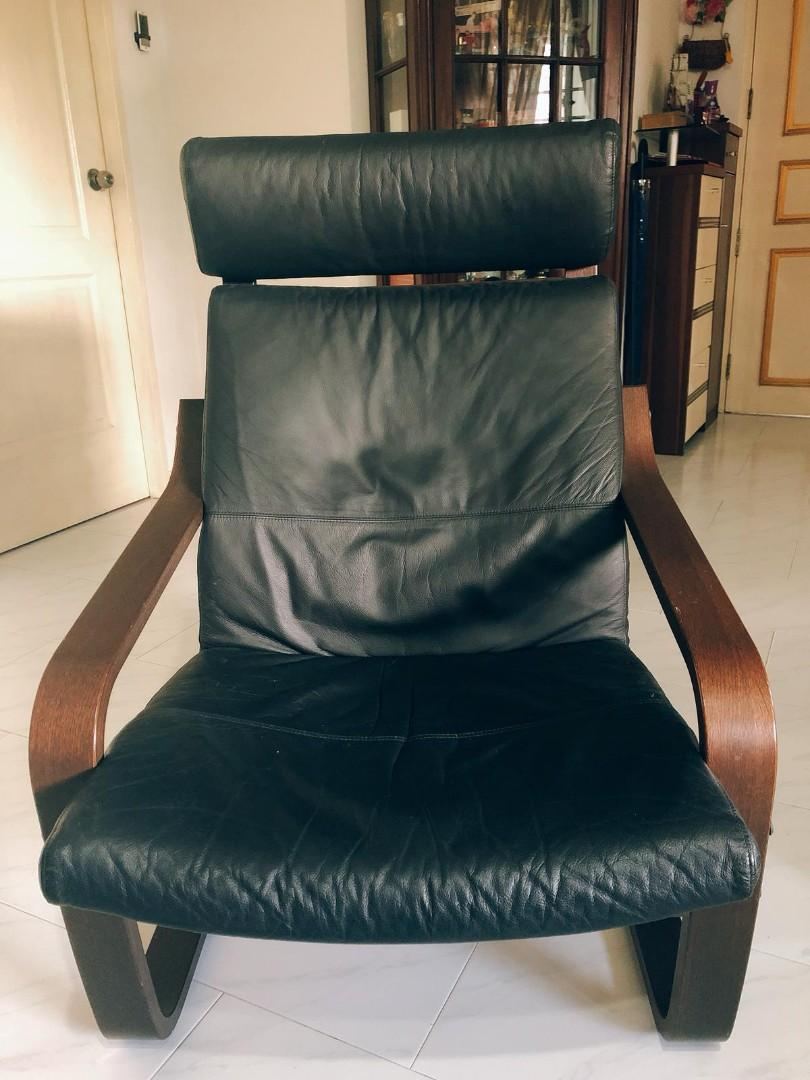 Surprising Ikea Poang Chair With Footstool Furniture Tables Chairs Machost Co Dining Chair Design Ideas Machostcouk
