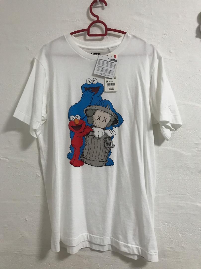 Kaws x Sesame Street x Uniqlo, Men's Fashion, Clothes, Tops