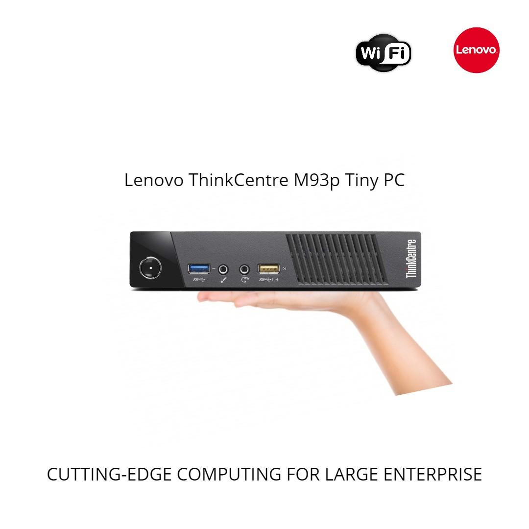 Lenovo ThinkCentre M93p Tiny Desktop intel Mini PC core i5-4570T 4th Gen  #2 9Ghz 8GB RAM New 480GB SSD DP to Hdmi Wifi Win 10 Pro-Refurbished