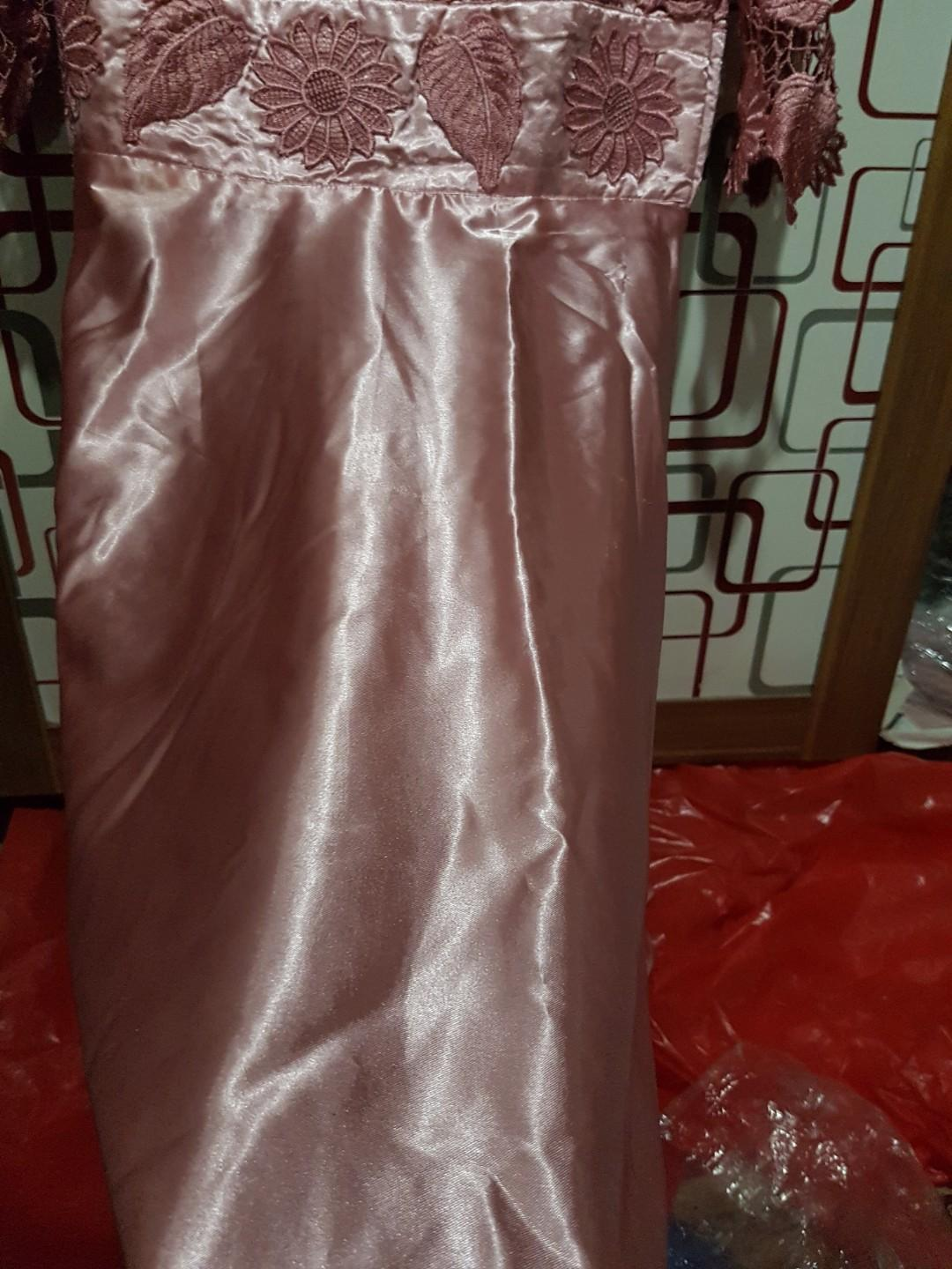 Midi Dress brukat satin