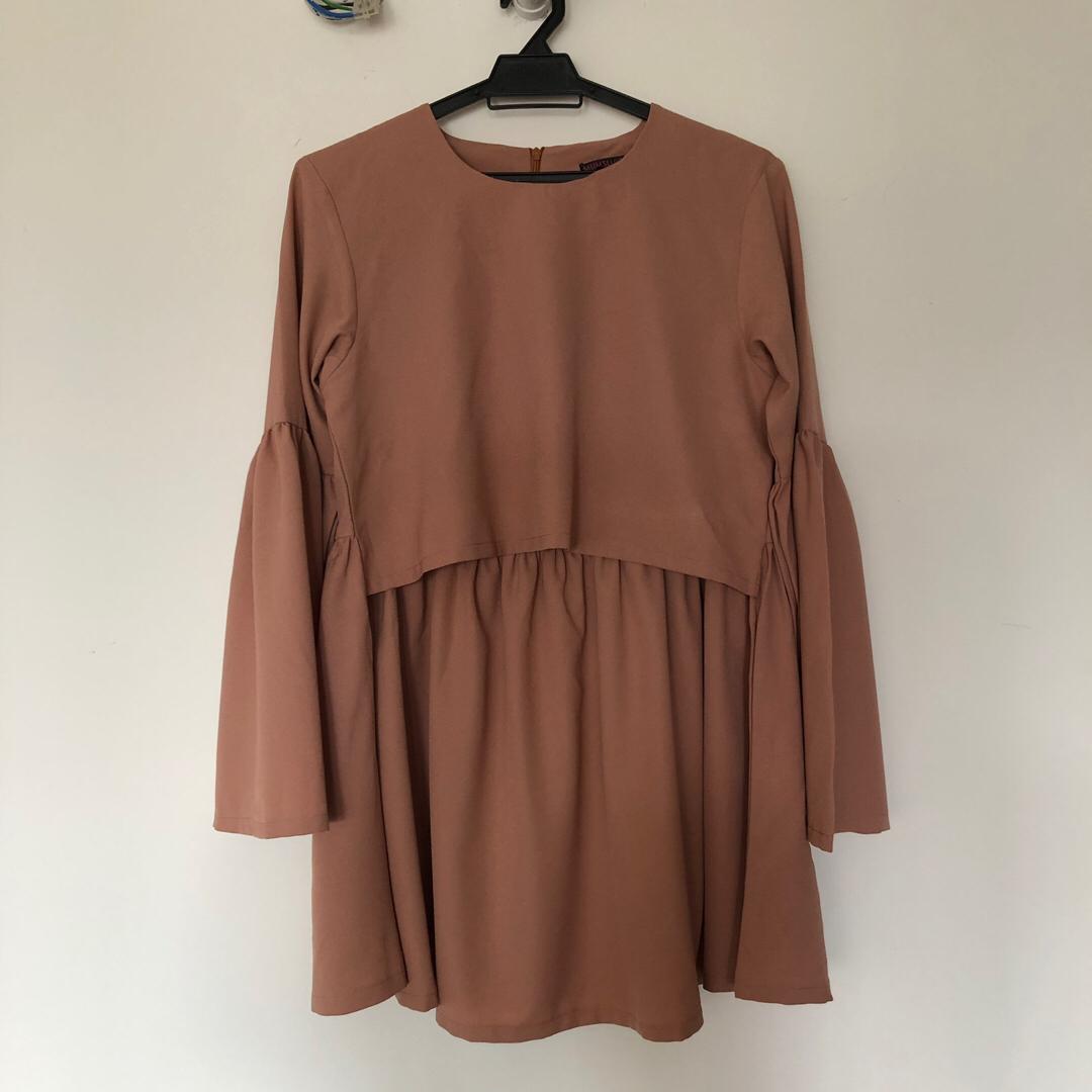 b00151b83a5ba Mumsluv Maternity Top Tunic Blouse, Fesyen Muslimah, Baju di Carousell