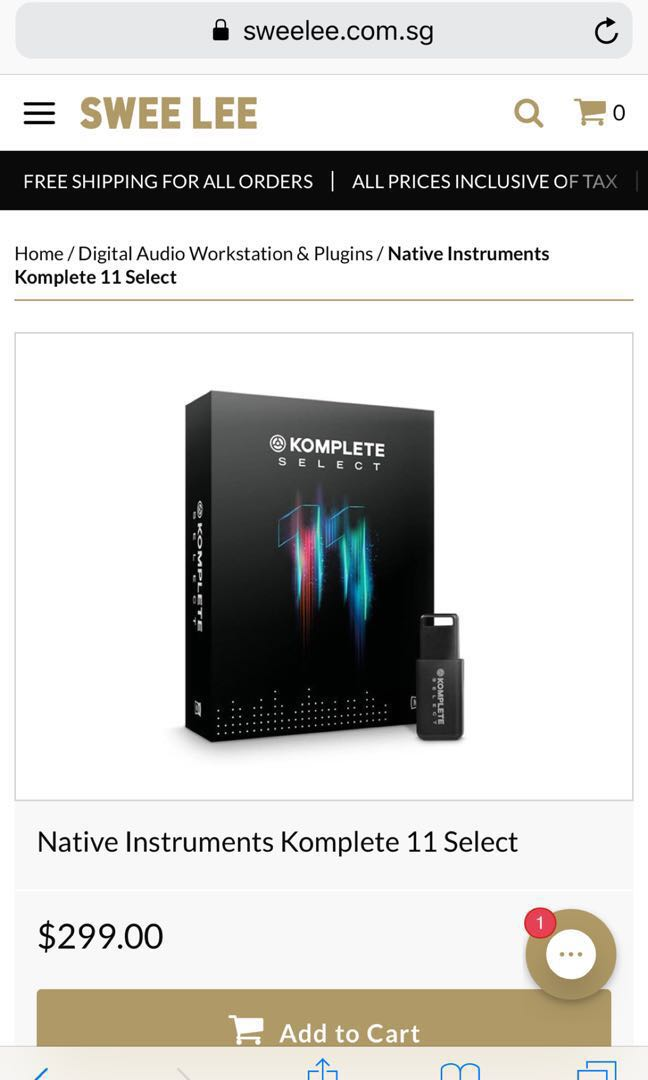 Native Instruments Komplete Select 11 License (unused)