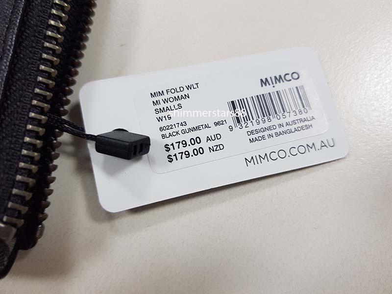 New Mimco MIM FOLD WALLET, Black Gunmetal, RRP$179, Free Postage