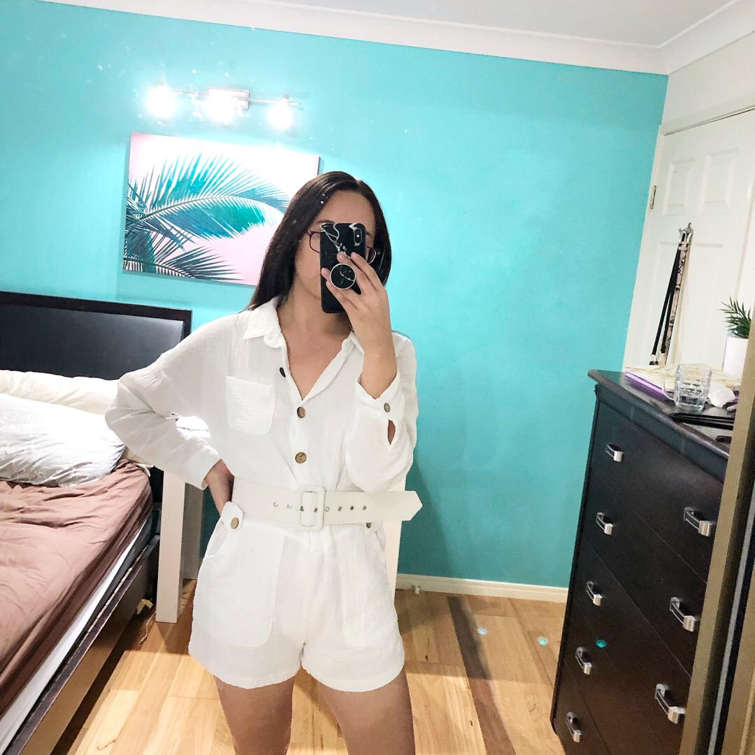 🆕 Size 10 | Sassy Hills Fashion Button-Up Playsuit