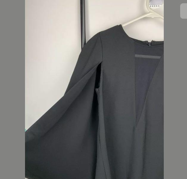 NWOT Portmans 6 black lightweight cape blazer jacket work fashion casual preppy
