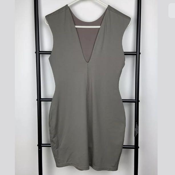 NWT Bec & Bridge sz 10 Reversible Body Dress Pistachio nude brown designer basic